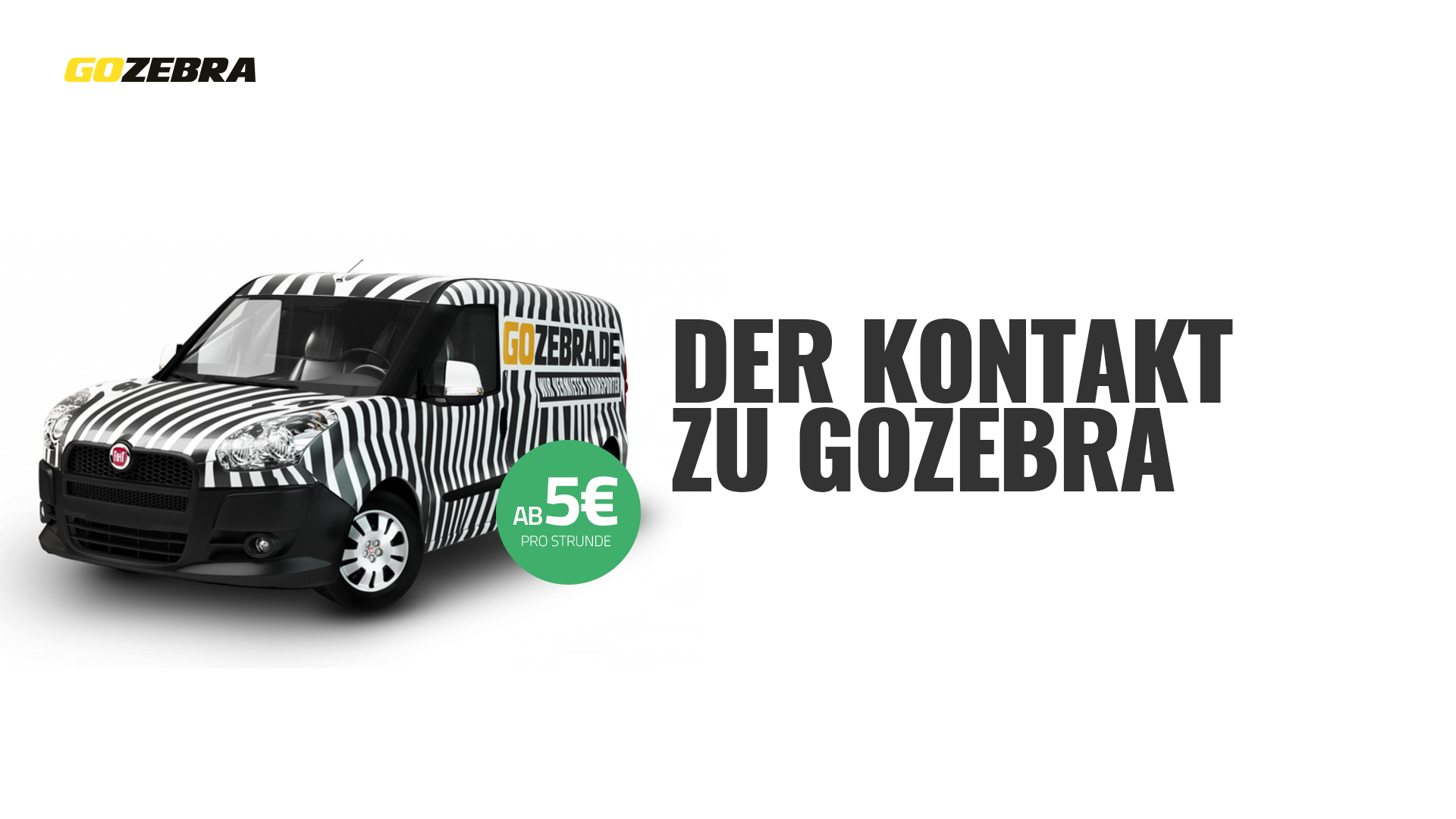 transporter mieten kundenservice kontakt gozebra. Black Bedroom Furniture Sets. Home Design Ideas